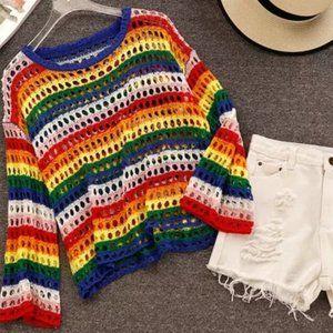 FIshnet Multi Color Sweater Top